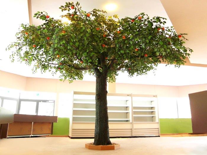 kunstb ume mit fr chten apfel orangen zitronenb ume. Black Bedroom Furniture Sets. Home Design Ideas