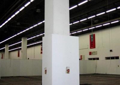 Unverkleideter Deckenträger auf der Messe Frankfurt