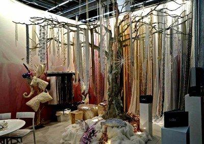 Prächtig dekorierter Baum auf der Christmas World.