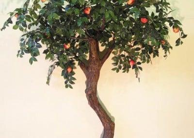 Kleiner künstlicher Apfelbaum (ca. 220 cm hoch)