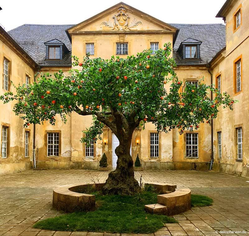 Großer, künstlicher Apfelbaum von Hadjisky bei einem Filmdreh