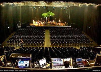 Große Bühne - großer Baum! XXL-Kunstbaum (450 cm hoch) von Hadjisky auf der Bühne mit Radio Doria in Hamburg.